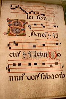 591264-una-musica-medievale-tablatura-pergamena